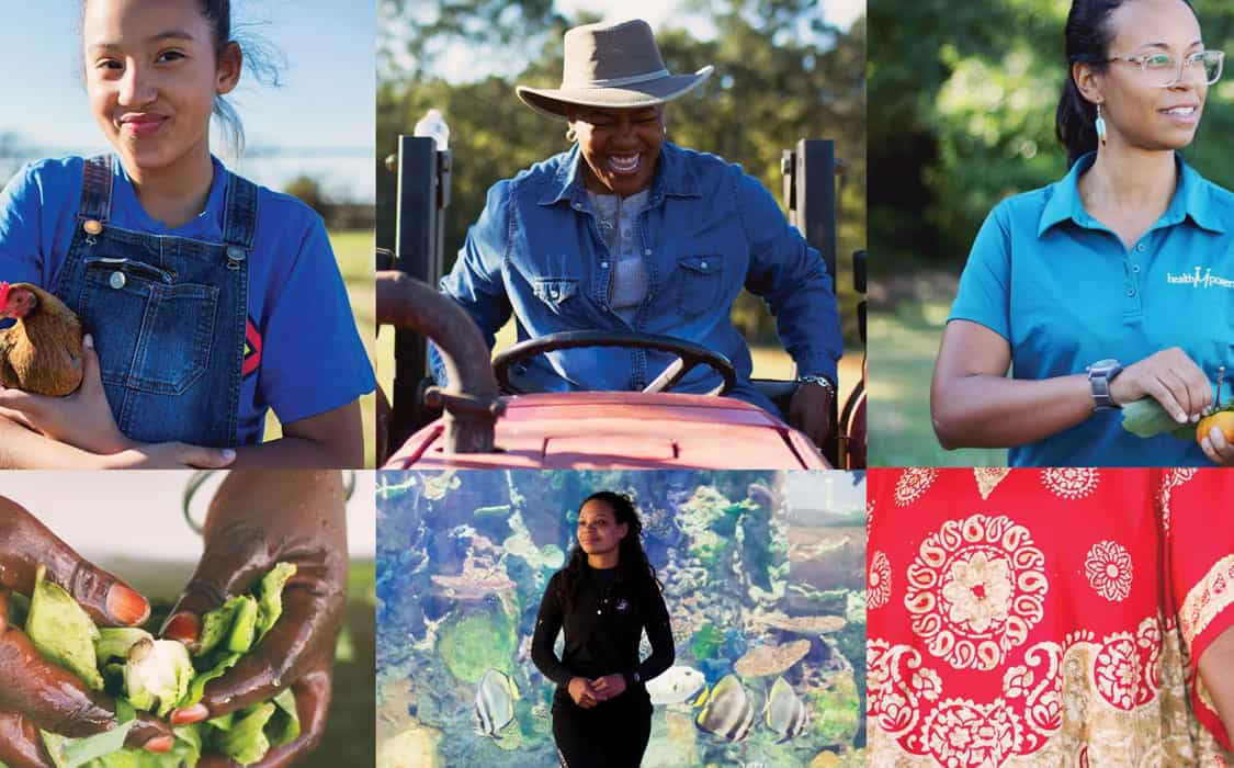 Women of color who are farmers and raise food