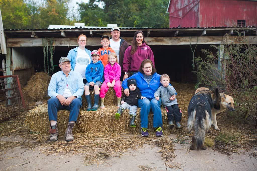 Farm family photo shoot