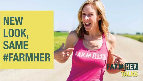 Marji Alaniz in her FarmHer tank top on a dirt road.