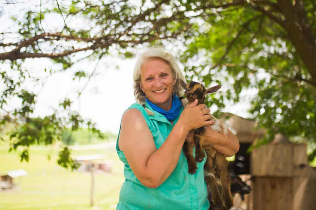 Nancy Blanchard of Coco's Ranch in Palo, IA loves all of the animals on the farm.