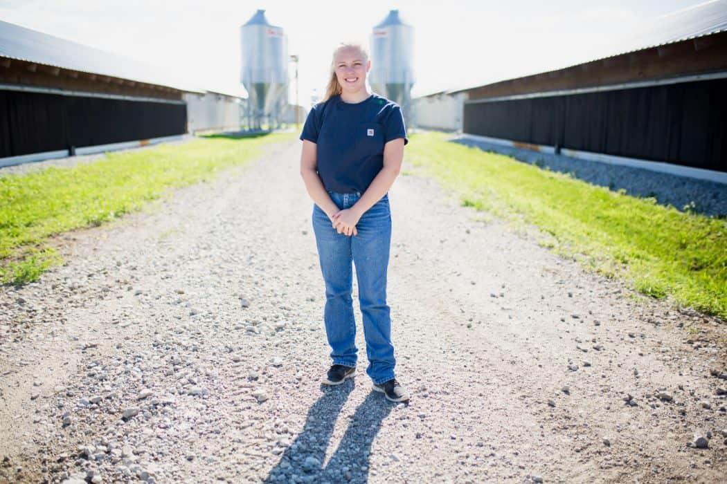 Hannah Borg at Borg Family Farms in Allen, Nebraska