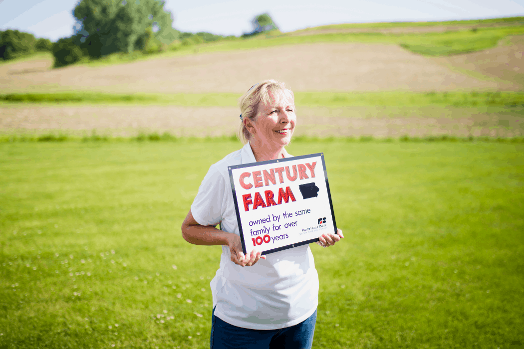 Sara Wyant is proud to be a part of a century farm in Iowa agriculture.