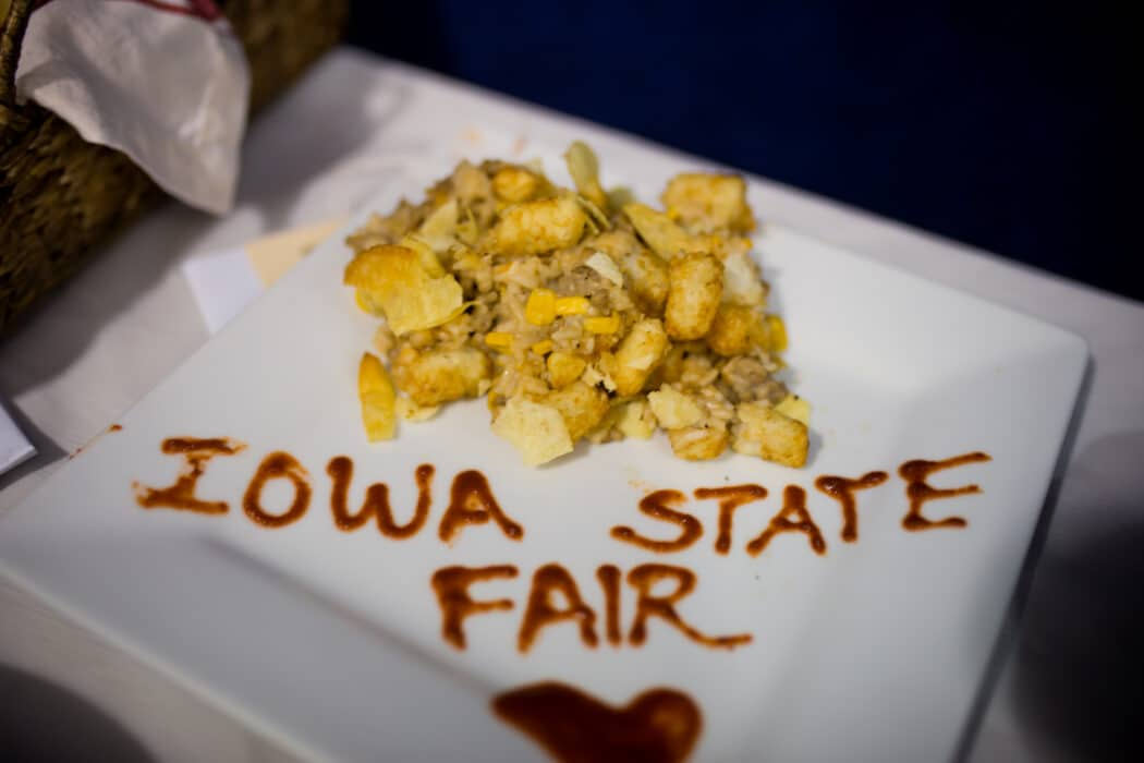 A casserole from the Food Bank of Iowa Chopped- Hot Dish Edition contest at the Iowa State Fair.